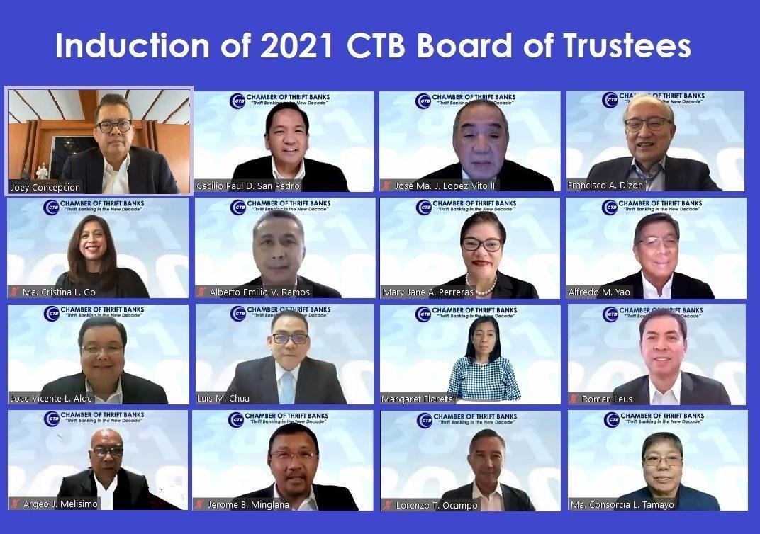 Induction of the 2021 CTB Board of Trustees